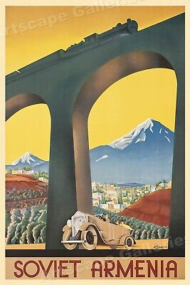 1936 Soviet Armenia Vintage Style Russian Travel Poster - 20x30