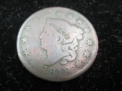 1818 Liberty Head Large Cent Ag Condition