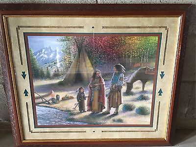 Home Interior Homco Indian Tribe Of Three Print Picture