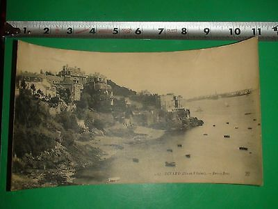 JC645 Vintage Large Panoramic Postcard Dinard Greece Greek Sea Boat Dinghy