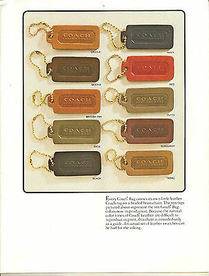 Vintage Coach Bag Catalogs-1981-2002- Scanned to 4GB Bracelet USB Thumb Drive