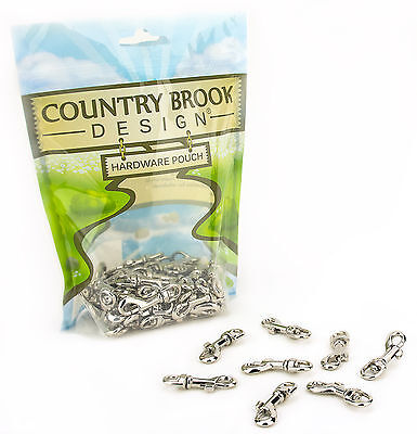 10 - Country Brook Design® 1/4 Inch Swivel Snap Hooks