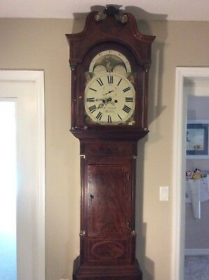 Exceptional Mahogany Tall Case Clock