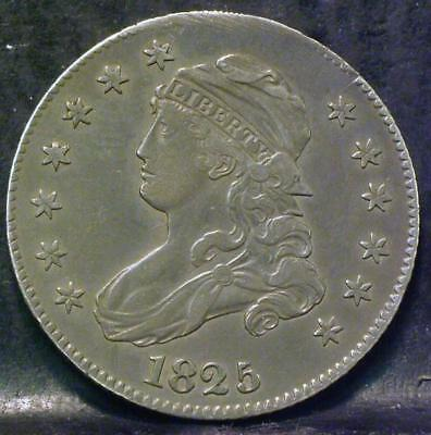 1825/4/2 Over Date  (B-2 Y-2)  Capped Bust Quarter -ID#MM565