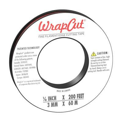WrapCut Fine Filament Edge Cutting Tape, 200 ft (1 Roll)
