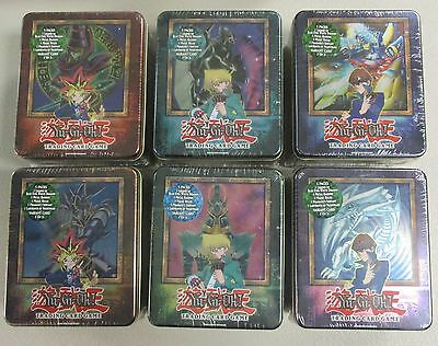 YuGiOh! 2003 Collectible Tin Lot Full Set Blue Eyes White Dragon Kaiba Konami