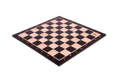 """Smoked Oak & Maple Wooden Chess Board - 2.25"""" With Notation & Logo"""