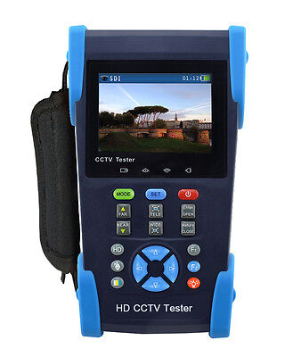 "3.5"" TFT LCD HD-AHD/CVI/TVI/SDI Camera CCTV Tester Monitor CVBS Test NTSC/PAL UK"