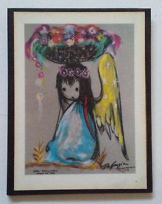 De Grazia plaque print mounted on wood LITTLEST ANGEL NBC Today Show 1964