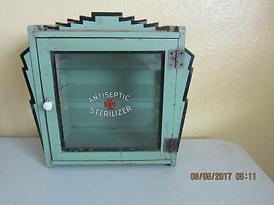Antique Wood  Antiseptic Sterilizer Cabinet LOOK WOW