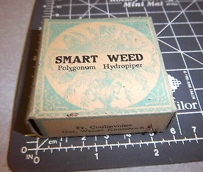 Vintage Huber & Fuhrman Smart Weed, 1900s Pharmacy New unopened box NOS