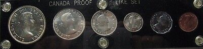 1953 Canada Silver Proof Like Coinage Set In Holder 6 Pc ** FREE U.S SHIPPING **