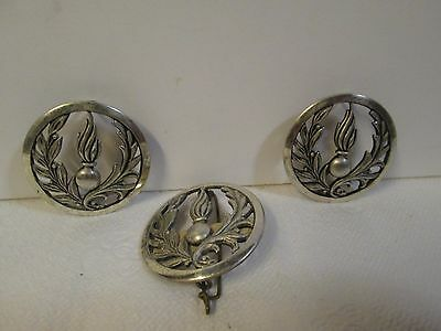Lot Of (3) Vintage French Army Legion & Artillery Beret Badge