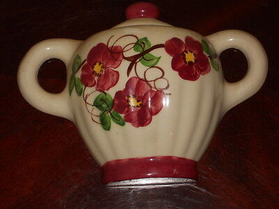 "Tea Pot WALL POCKET Hand Painted Flowers 8"" W X 6"" T"