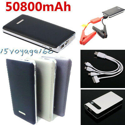12V 50800mAh Car Vehicle Jump Starter Emergency Charger Power Bank Battery
