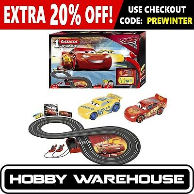 Carrera First Disney/Pixar Cars 3 Slot Car Set