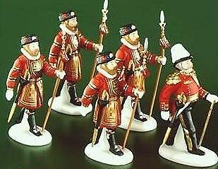 Dept 56 Dickens Village Series Yeomen Of The Guard 5 pc Set ~ Mint in Box!