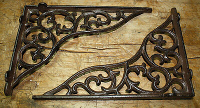 8 Cast Iron Antique Style HEAVY DUTY VINE Brackets Garden Braces Shelf Bracket
