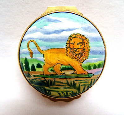 Tiffany & Co. Designed Halcyon Days Enamel Trinket Box ~ Leo the Lion Astrology