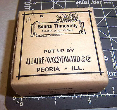 Vintage Allaire Woodward, SENNA TINNEVELLY, 1900s Pharmacy New unopened box NOS