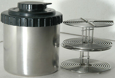 Kindermann Stainless Steel film developing tank to process two rolls of 35mm