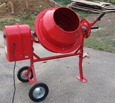 Portable Solid Steel Stucco, Mortar, 1-1/4 Cubic Ft. Cement Mixer . FEDEX