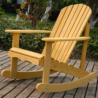 LIFE CARVER Rocking Armchair for Garden & Patio in natural solid wood Comfortabl