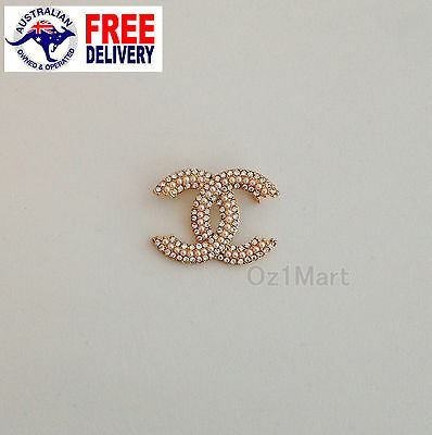 NEW Fashion BROOCH Gold Crystals Pearls Elegant Casual Office Pin Gifts