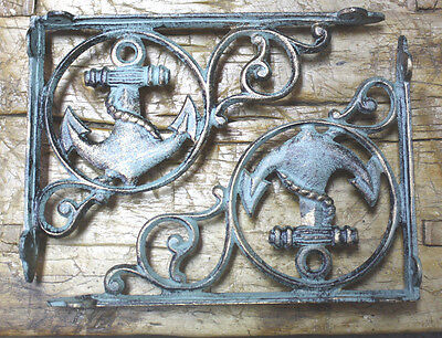 12 Cast Iron NAUTICAL ANCHOR Brackets Garden Braces Shelf Bracket PIRATES SHIP