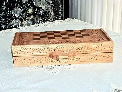 Fabulous Hand Carved  Cempaka Wood Balinese Chess Set Indonesia