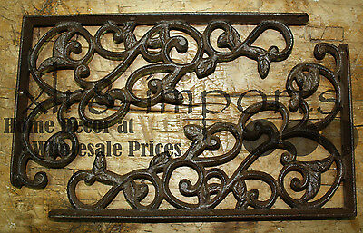 8 Cast Iron Antique Style LEAVES & VINE Brackets, Garden Braces Shelf Bracket