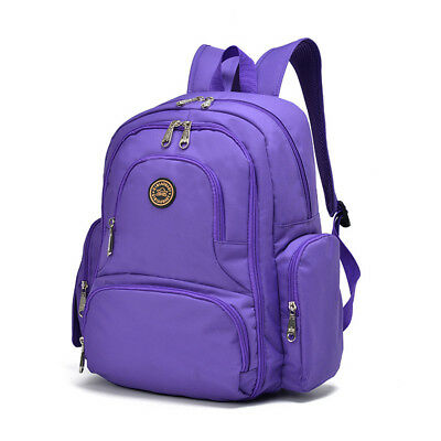 Baby Diaper Bag Nappy Backpack Change Pad Insulation Pocket Fit Stroller Purple