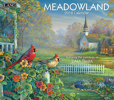 Meadowland 2018 Lang Full-Size Wall Calendar, January-December by Sam Timm