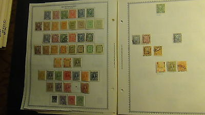 Montenegro stamp collection on Minkus pages