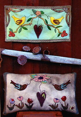 PATTERN - Bird Land - sweet applique PATTERN - Reets Rags to Stitches