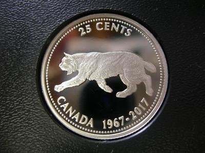 CANADA - 1967-2017 fine silver 25 Cents - Centennial design - PROOF
