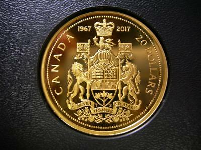CANADA - 1967-2017 GOLD plated fine silver 20 Dollar - Centennial design - PROOF