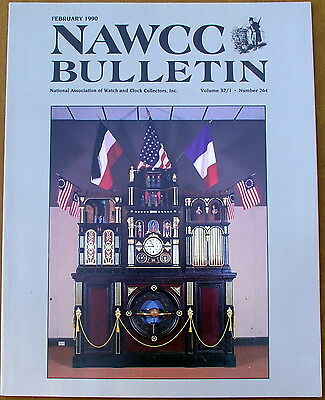 February 1990 NAWCC BULLETIN National Watch & Clock Collectors Magazine Book