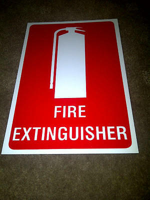 2 X FIRE EXTINGUISHER LOCATION SIGNS 22CM x 15CM FREE POSTAGE