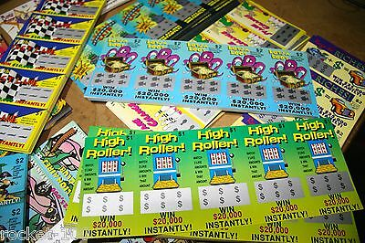 FAKE SCRATCH TICKETS  X 20 Seen on Footy Show Great Prank anytime! EXPRESS POST!