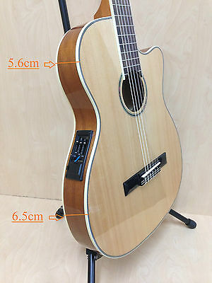 "Caraya 39"" Thin body Classical guitar,Natural w/built in EQ cutaway C-551BCEQ/N"