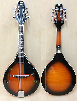 Caraya MA-005 A-style, F-holes Mandolin Vintage Sunburst w/Lockable Hard Case