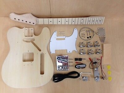 4/4 E-218DIY TE Style Electric Guitar DIY Kits,Set Neck,Complete No-Soldering