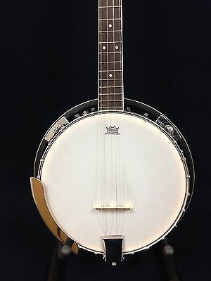 Caraya 4-String Tenor Banjo w/Mahogany Resonator+Free Ging Bag. BJ-004