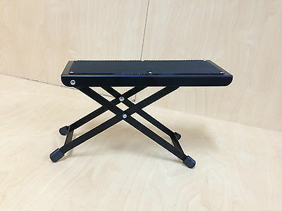 J-46 Height Adjustable Guitar Footrest/Footstool w/Metal Frame,Rubber Foot Pad