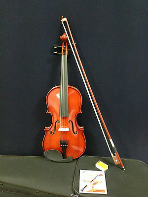Brand New Caraya 1/4 Size Violin w/Spare String Set,Foam Hard Case,Bow,Rosin