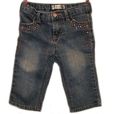 Girl's Pink Kiss Size 5T Blue Jeans