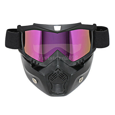 Motorcycle ATV Off-Road Riding Hunting Game Scooter Ski Goggles Face Mask Helmet
