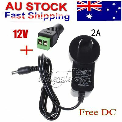 AU Power Supply AC 100-240V to DC 12V 2A Power Adapter Charger LED Light Strip