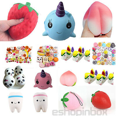 New Soft Animal Emoji Squeeze Squishy Stress Reliever Healing Fun Toy Desk Decor